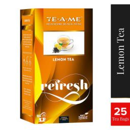 TE-A-ME Signature Black Lemon Tea, 25 Tea Bags (3 Flavored Bags Free)