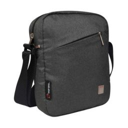 Murano Celvo 22 cm Polyester Travel Sling Bag-Premium Quality Stylish Messenger Bag- Cross Body (Black)