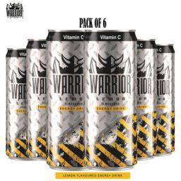 Warrior Energy Drink Lemon, 6 x 330 ml