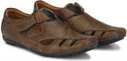 Men Brown Flats Sandal