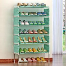 FurnCentral Metal Shoe Stand  (6 Shelves)