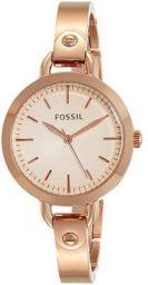 Fossil Analog Rose Gold Dial Women's Watch - BQ3026
