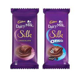 Cadbury Dairy Milk Silk Large Chocolates Combo (Silk Plain 150g, Silk Oreo 130g), 280 g