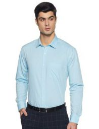 Amazon Brand - Symbol Men's Regular Fit Full Sleeve Fil A Fil Formal Shirt