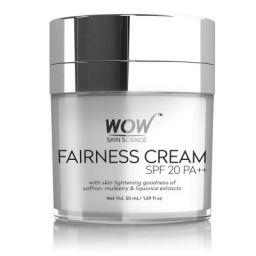 WOW Fairness SPF 20 PA++ No Parabens & Mineral Oil Cream, 50mL
