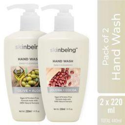 Skinbeing Aloe and Jojoba Hand Wash Bottle, 220 ml (Pack of 2)