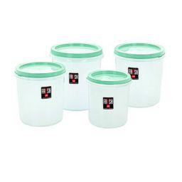Cello Store Fresh Plastic Container Set, 4-Pieces, Green