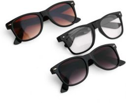 Royal Son UV Protection Wayfarer Sunglasses (55)  (Black, Brown, Clear)