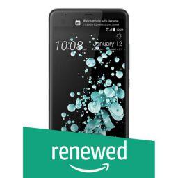 (Renewed) HTC U Ultra Smart Phone, Brilliant Black