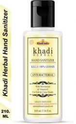 Khadi Herbal Hand Sanitizer Anti-Bacterial For Soft & Clean Hands Bottle  (210 ml)