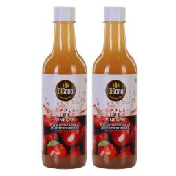 DiSano Apple Cider Vinegar with Mother Vinegar, 500ml Each (Pack of 2)