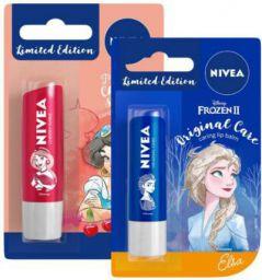 Nivea Lip Balm, Disney Limited Edition Cherry Shine, 4.8g & Lip Balm, Disney Limited Edition Original Care, 4.8g (Pack of 2)
