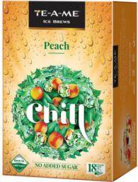 TE-A-ME Chill Peach Iced Tea Box (18 Bags)
