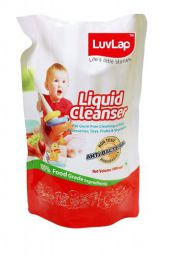 LuvLap Anti-Bacterial Baby Bottles, Accessories and Vegetable Liquid Cleanser Refill Pack (1L)