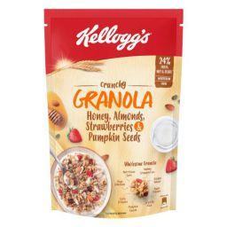 Kellogg's Crunchy Granola Honey, Almonds, Strawberries & Pumpkin Seeds, 450 g