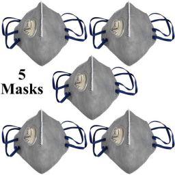 Tdas anti-pollution n95 Mask with inbuilt filter air masks reusable - 5 pcs Masks