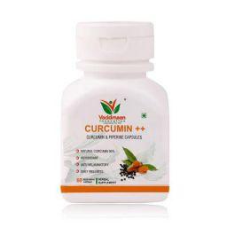 Vaddmaan Natural Strong Immunity Curcumin++ with Piperine Extract, 95% Curcuminoids – 60 Veg Capsules