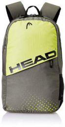 HEAD 24.28125 Ltrs Grey and Lemon School Backpack
