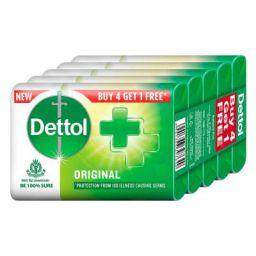 Dettol Original Germ Protection Bathing Soap bar 125gm (Pack of 5)