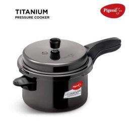 Pigeon Titanium Hard Anodized Pressure Cooker - 5 Litres