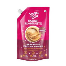 Yogabar Almond Butter | Hazelnut | Breakfast Protein Spread - 200gm