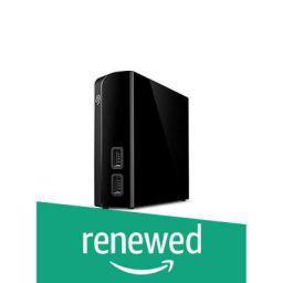 (Renewed) Seagate Backup Plus Hub 10 TB External Hard Drive Desktop HDD – USB 3.0, for Computer Desktop Workstation PC Laptop Mac