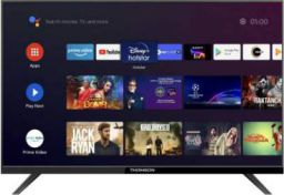 Thomson 9A Series 80cm (32 inch) HD Ready LED Smart Android TV with Bezel Less Display (32PATH0011BL)