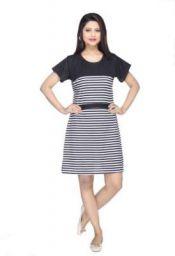 FTC FASHIONS Women A-line Black Dress