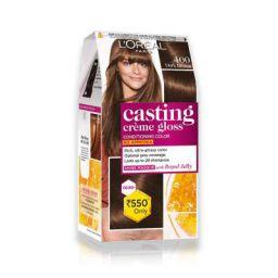 L'Oreal Paris Casting Creme Gloss Hair Color Dark Brown 400 87.5g+72ml