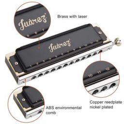 Juarez BlackBird JRH1248K Professional Chromatic Harmonica Key of C Scale