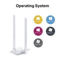 MERCUSYS MW300UH N300 Wireless High Gain USB Adapter| 300Mbps Wi-Fi Speed | Two 5dBi Antennas | 2x2 MIMO Wi-Fi