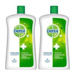 Dettol Original Germ Protection Handwash Liquid Soap Jar, 900ml (Pack of 2)