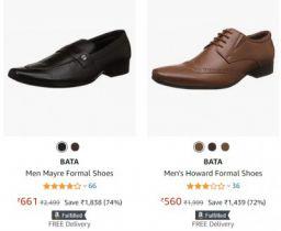 Bata Men's Formal Shoes at Minimum 70% Off