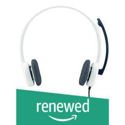 (Renewed) Logitech H150 Stereo Headset (Cloud White)