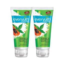 Everyuth Naturals Purifying & Exfoliating Neem Papaya Scrub Pack of 2 (100gm x 2)