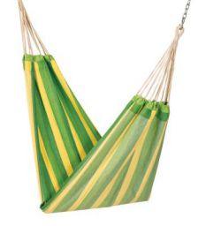 Hangit Cotton Hammock (Green Stripes, 335 Centimeters)