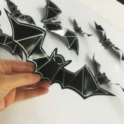 Jaamso Royals 'Bat' Wall Stickers (Vinyl, 70 cm x 0.1 cm x 70 cm, Black)