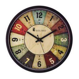 Amazon Brand - Solimo 12-inch Wall Clock - Classic Roulette