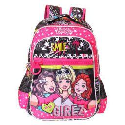 Barbie My Baby Excel(Label) Girlz Big Zipper School Bag 41 cm