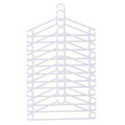 Kuber Industries Plastic 12 Pcs Hanger Set for Wardrobe (White) -CTLTC10576
