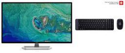 Acer 32-inch (81.28 cm) Full HD IPS Monitor - EB321HQ (Black) with Logitech MK215 Keyboard Combo