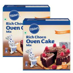 Pillsbury Oven Cake Mix, Rich Choco, 285 gm x Pack of 2, 570 gm
