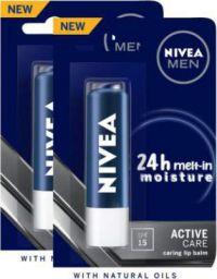 NIVEA MEN Active Care SPF15 Lip Balm Crme  (Pack of: 2, 9.6 g)