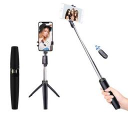 pTron Glam Plus Bluetooth Extendable Selfie Stick with Tripod Stand