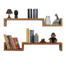 Forzza Cooper Wall Shelf, Set of 2 (Oak)