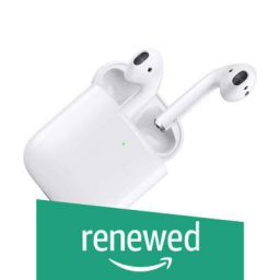 (Renewed) Apple AirPods with Wireless Charging Case (White)
