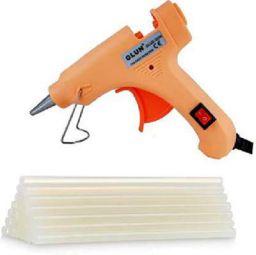 20W 20 WATT 7MM HOT MELT Glue Gun with ON Off Switch and LED Indicator (Free 10 Transparent Glue Sticks)