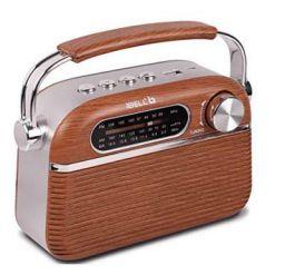 iBELL FM700BT Portable FM Radio with Bluetooth Speaker, USBSDMP3 Player & Dynamic Speaker 3 Band,Brown