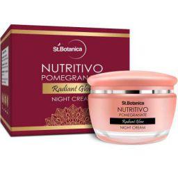 StBotanica NUTRITIVO Pomegranate Radiant Glow Night Cream, 50gm - Brightening, Nourishing
