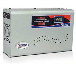 Microtek EM4160+ Automatic Voltage Stabilizer for AC up to 1.5 ton (160V-285V), Metallic Grey